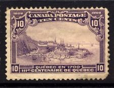 Canada SG 193 Cat £100 1908 Quebec Tercentenary 10c  Violet Mounted Mint Low pri