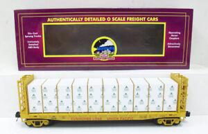 MTH 20-98779 UP Flatcar w/Bulkheads&Covered Wood Load #15036 EX/Box