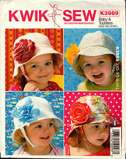 Kwik Sew Sewing Pattern K3989 3989 baby and Toddlers Hats