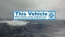 British Leyland Funny internal window sticker classic car Triumph,Mini,Morris