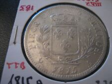 @   5 Francs  Louis XVIII , Buste habillé 1815 A  @