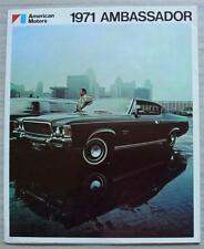 AMERICAN MOTORS AMC AMBASSADOR USA Car Sales Brochure 1971 #AMX 7105
