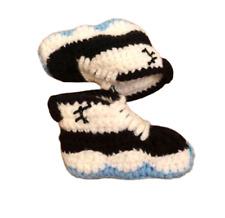 Crochet Baby Sneaker J Basketball Air Concord Blue White Black Boy Tennis