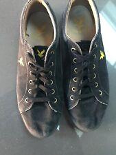 LYLE & SCOTT Mens Trainers Deck Shoes Side Eagle Pump Black Canvas UK Sz 10 Eu44