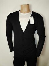 Men's Thin Knit Wool Button-Front Jumpers & Cardigans