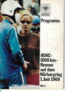 1969 Nurburgring 1000 km  Sports Prototype & GT race program  Siffert & Redman