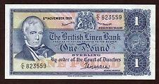 Sharp 1969 £ 1 british linen dans ef. prefix C/5