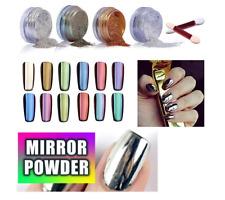 Silver Rose Pink Gold Glitter Mirror Powder Chrome Effect Nail Powder Gel Polish