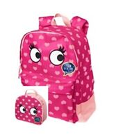 Gymboree Girls Backpack Lunchbox Leopard Hearts Eyes NWT