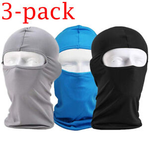 3 Pack Balaclava Full Face Mask UV Protection Windproof Breathable for Women Men