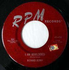 RICHARD BERRY 45 I Am Bewildered/Pretty Brown Eyes RPM r&b VG++ d2173