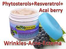 Antiinflammatory phytosterol Cream with Resveratrol Acai berry Antioxidant Acne
