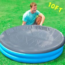 10FT POOL COVER WITH ROPE TIES INFLATABLE PADDLING SWIMMING POOLS Nice