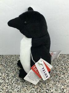 "Telus Critters Black White Penguin HTF Plush Stuffed Animal 6"" Gund 41618"