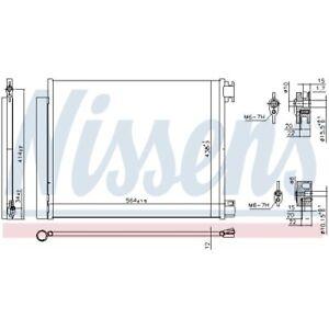 1 Kondensator, Klimaanlage NISSENS 941060 passend für RENAULT