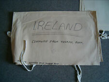 CANVAS FOLIO COVER with ties - Holds about 100 Admiralty Charts - used