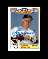 Bobby Doerr Signed 1989 Topps All Star Boston Red Sox Autograph