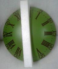 Wand Uhr erhaben rund grün Antik Deko Mobiliar Vintage Exclusiv Geschenk 39cm