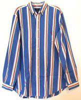 Polo Ralph Lauren Big & Tall Mens LT Blue Red Striped Button-Front Shirt NWT LT