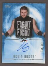2017 Topps WWE Wrestling Blue Kevin Owens Signed AUTO 65/199
