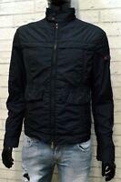 Peuterey Giacca Blu da Uomo Taglia M Slim Giubbotto Giubbino Jacket Man Nylon
