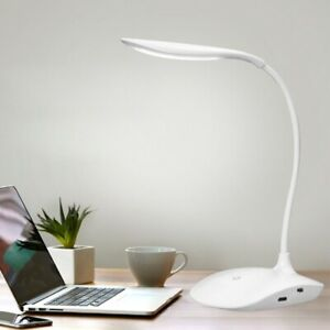 LED Touch Sensor Table Desk Lamp Rechargeable Dimmable Study Reading Light