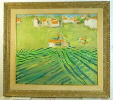 Vintage ABSTRACT Bucks County MODERNIST OIL PAINTING Mid Century LISTED ASL NY