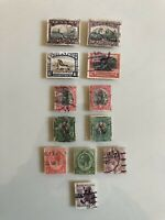 Early Collection Lot - Union Of South Africa - Set Of 12 Used Stamps