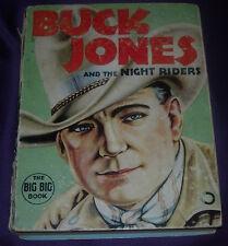 BUCK JONES AND THE NIGHT RIDERS  BIG BIG BOOK  1937  LOW GRADE