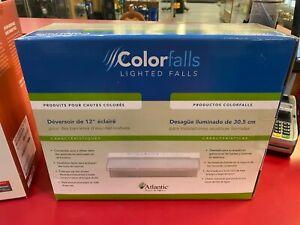"Atlantic CF12W Crystal White 12"" Colorfalls-Waterfall Spillway w/LED Lights-weir"