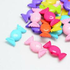 50 Mixed Pastel Colour Sweets Candy Beads Jewellery Craft 25mm x 12mm