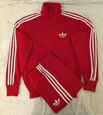 Adidas Originals ADI-Firebird Tracksuit Red White Size M