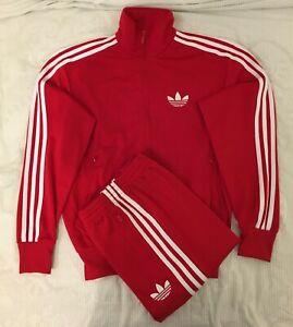 Adidas Originals ADI-Firebird Tracksuit Red White Size M