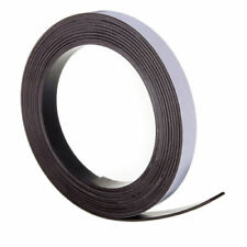 SELF ADHESIVE MAGNETIC TAPE STRIP FLEXIBLE FRIDGE/CRAFT 5m x 12mm *VERY STRONG*