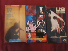 LOT OF 3 - U2 VHS TAPES ACHTUNG BAB, RATTLE AND HUM, LIVE AT RED ROCKS