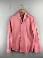 Boss Orange Men's Long Sleeve Button Up Shirt Size M Pink