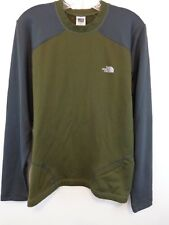 THE NORTH FACE FLIGHT SERIES Men Base Layer Shirt Sz Medium Green/Grey