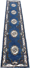 "3x16 Runner Rug Oriental Medallion Floral Light Blue High Quality Size 2'8""x15'5"
