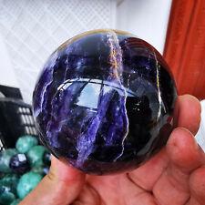 567g Natural Fluorite Quartz Sphere Crystal Ball Reiki Healing
