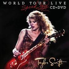 TAYLOR SWIFT World Tour Live: Speak Now CD+DVD 2011  *FAST SHIP*  *VERY GOOD*
