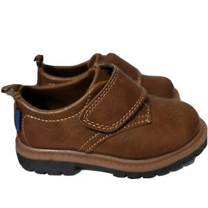 CARTER'S Toddler Boys  Brown Dress Shoes Hook Loop Closure Size 7