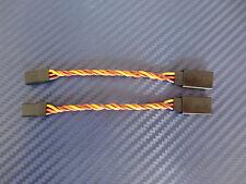 2 Pcs servoverlängerung Twisted JR Graupner 7,5cm 0,34mm ² Servo Cable Cable