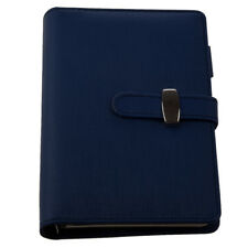 Pocket Organiser Planner Leather Filofax Diary Notebook Blue Y4I1