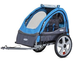 Instep Bike Trailer for Toddlers, Kids,  Double Seat, 2-In-1Carrier
