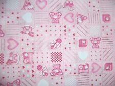 Craft Tessuto Remnant materiale Quilting 1 Metri Rosa Baby