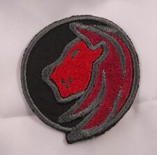 Embroidered Horoscope Astrology Red & Black Leo Lion Sign Patch Iron On Sew USA