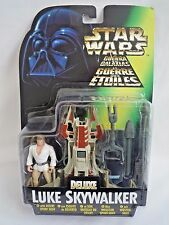 STAR WARS POWER OF THE FORCE DELUXE LUKE SKYWALKER WITH DESERT SPORT SKIFF