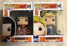 Colleen Clinkenbeard Chuck Huber Signed Funko Pop Set Android 17 18 JSA COA 9