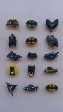 6 x BATMAN SHOE CHARM PARTY FAVOR CAKE DECORATION  SCRAPBOOKING
