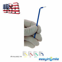 100Pcs Dental Disposable Micro Brush Bendable Applicators 4 Assorted EASYINSMILE